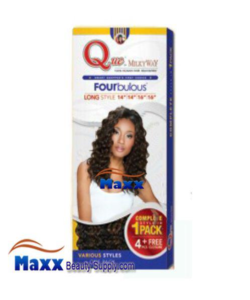 Milkyway Que Human Hair Weave Short Cut Series Loose Deep Long 5pcs