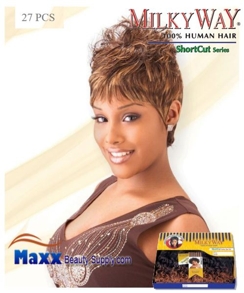 MilkyWay Human Hair Weave Short Cut Series - 27PCS
