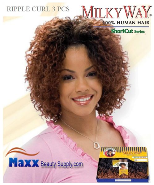 MilkyWay Human Hair Weave Short Cut Series - Ripple Curl 3pcs