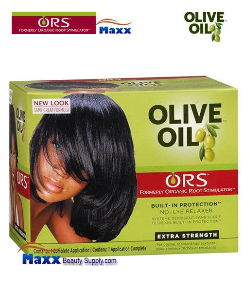 Organic Root Stimulator Olive Oil No Lye Relaxer 1 App Kit- Extra