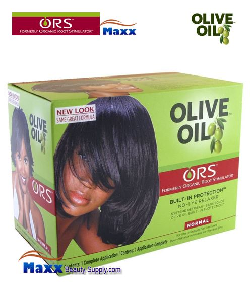 Organic Root Stimulator Olive Oil No Lye Relaxer 1 App Kit- Normal