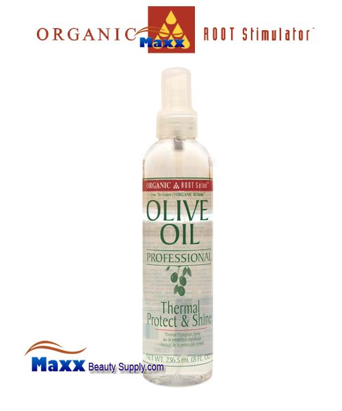 Organic Root Stimulator Olive Oil Professional Thermal Protect & Shine 8oz