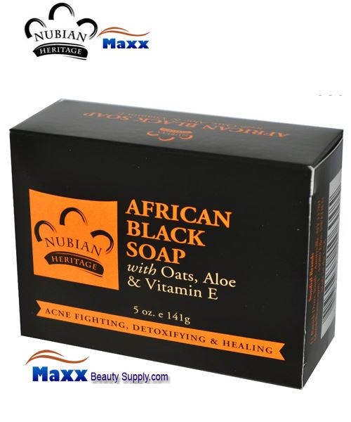 Nubian Heritage African Black Soap Bar 5 oz