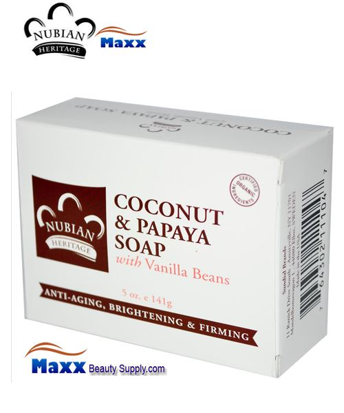 Nubian Heritage Coconut & Papaya Soap 5 oz