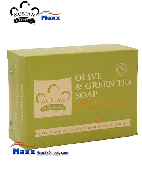 Nubian Heritage Olive & Green Tea Soap 5 oz