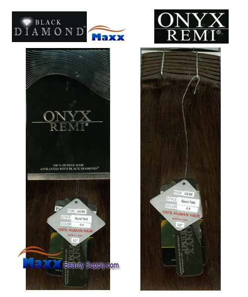 "Black diamond ONYX Essence 100% Human Hair Weave - Remi Yaki 10"" ~ 18"""