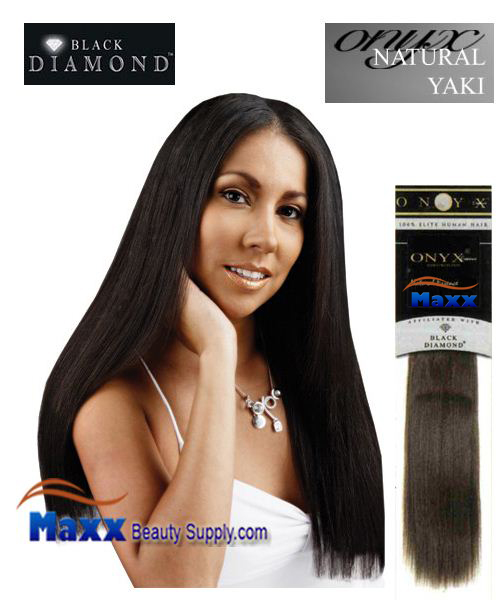"Black diamond ONYX Essence Human Hair Weave - Yaki 10"", 12"", 14"""