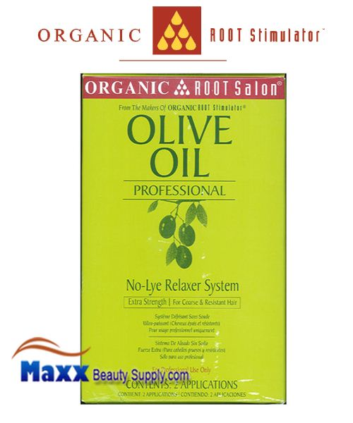 Organic Root Salon Olive Oil Professional No Lye Relaxer 2 App Kit - Extra