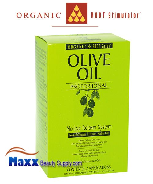 Organic Root Salon Olive Oil Professional No Lye Relaxer 2 App Kit - Normal