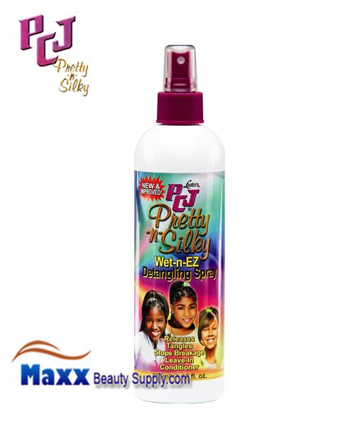 PCJ Pretty-n-Silky Wet-n-Ez Detangling Spray 12oz