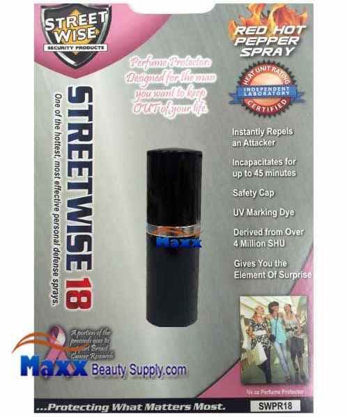 Streetwise Security Products Red Hot Pepper Spray 3/4oz - Black