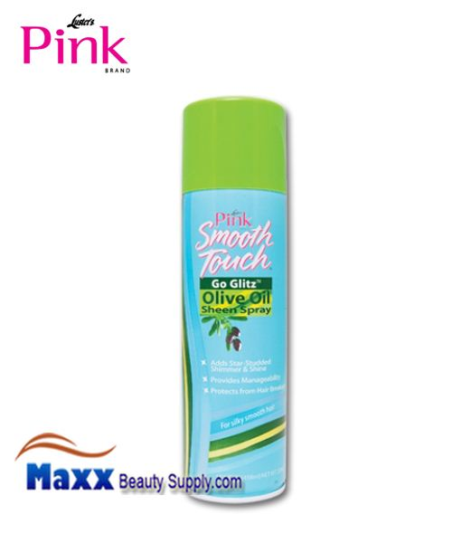 Luster's Pink Smooth Touch Go Glitz Olive Oil Sheen Spray 15.5 oz