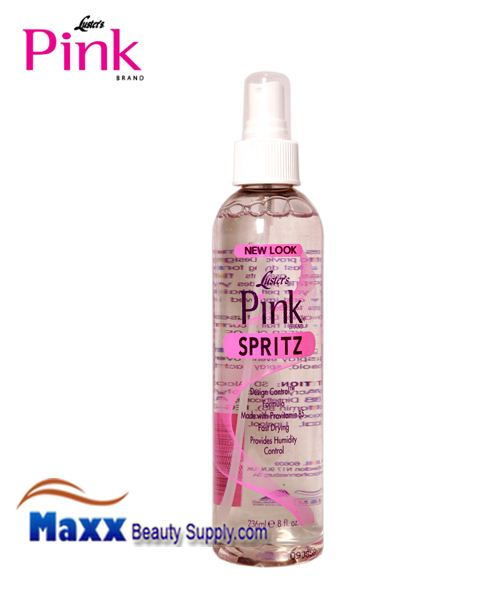 Luster's Pink Hair Spritz Pink Protection Design Control Firm Hold Spritz 8oz