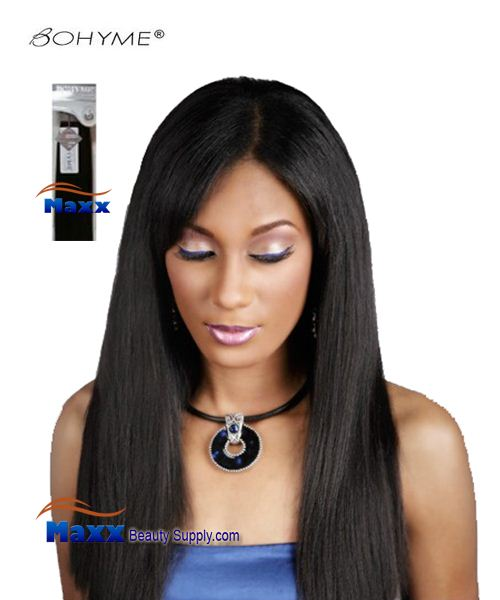 Bohyme Platinum Yaki Platinum Collection Remy Human Weave Hair Machined Tied