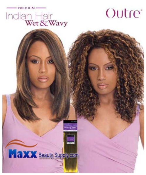 Outre Premium Indian Hair Weave Wet & Wavy Human Hair - Disco Curl 10""