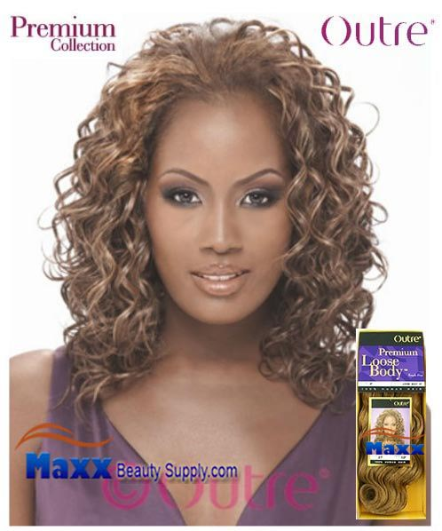 Outre Premium Collection Human Hair Weave - Loose Body 12""