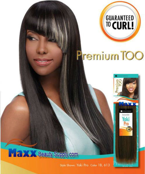 Sensationnel Premium Too Human Blend Hair Weave Yaki Pro