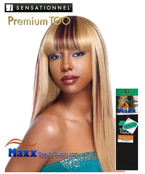 "Sensationnel Premium Too Human Hair Weave - Yaki Natural 10"", 12"""