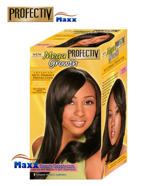 Profectiv Mega Growth Precision Touch Anti-Damage No-Lye Relaxer Kit - Super