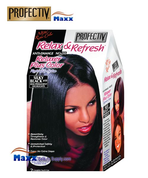 Profectiv Relax & Refresh Relaxer Color Restorative System - #19 Silky Black