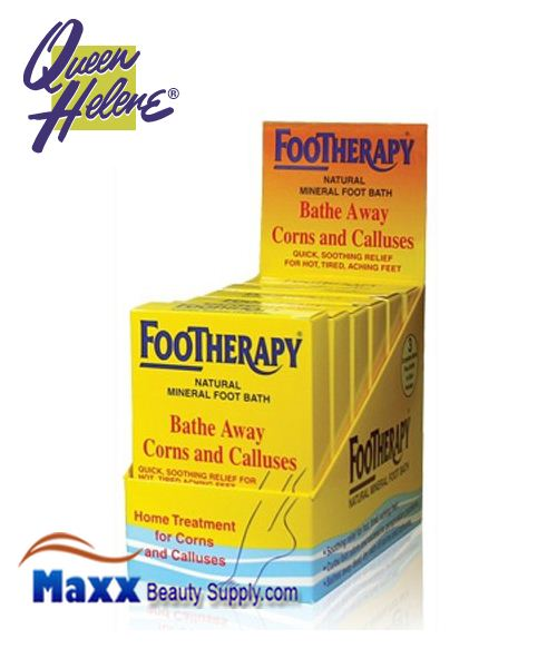 Queen Helene Footherapy Foot Bath - Bathe Away Corns and Calluses 3oz - DISP