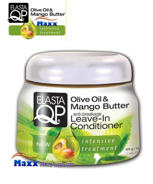 Elasta QP Olive Oil & Mango Butter Leave-In Conditioner 15oz - Jar