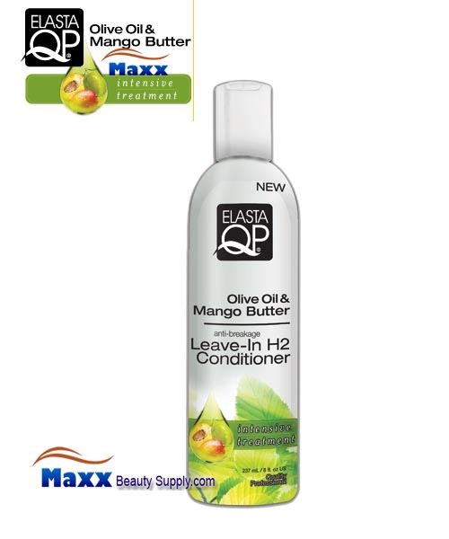 Elasta QP Olive Oil & Mango Butter Leave-In H2 Conditioner 8oz - Bottle