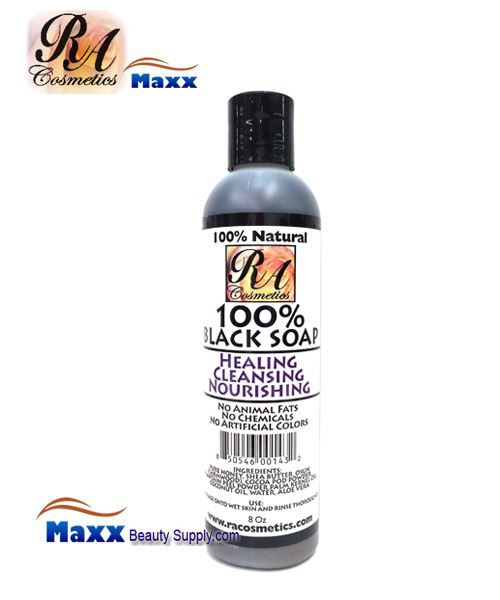 RA Cosmetics Liquid 100% Black Soap 8oz