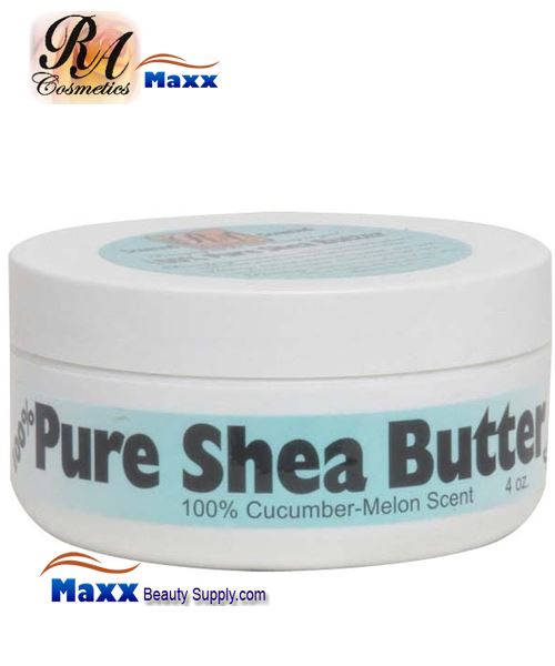 RA Cosmetics 100% Pure Shea Butter with Cucumber Melon Scent 4oz - Jar