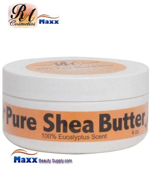 RA Cosmetics 100% Pure Shea Butter With Eucalyptus Scent 4oz - Jar