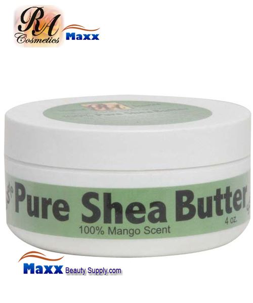 RA Cosmetics 100% Pure Shea Butter with Mango Scent 4oz - Jar