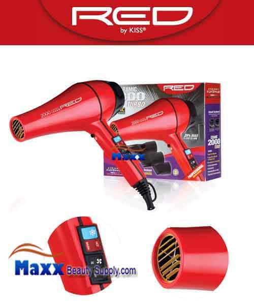 Red by Kiss #BD03 Ceramic 200W Turbo Hair Dryer