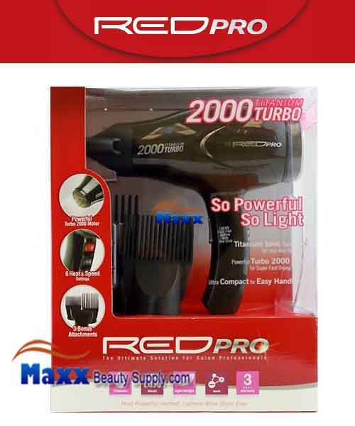 Red Pro by Kiss #BDP015 Titanium 2000W Tubo Hair Dryer