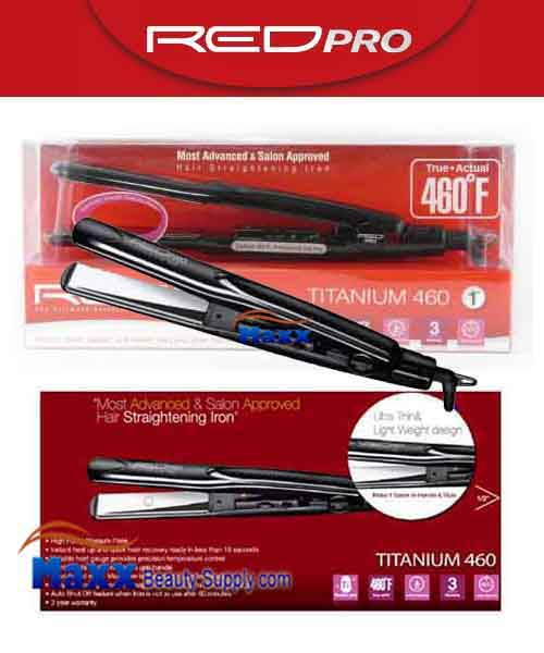 Red Pro by Kiss #FIP100 Titanium 460 Hair Straightening Flat Iron - 1""