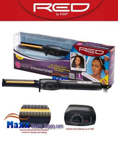 Red by Kiss #SC050 Ceramic Root Straightener - 1/2""