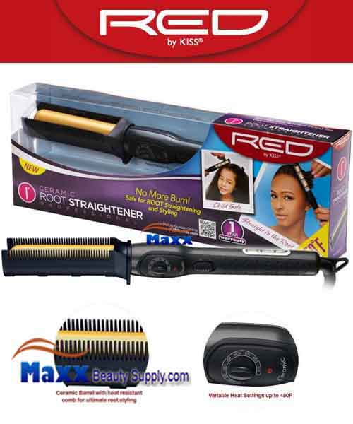 Red by Kiss #SCO100 Ceramic Root Straightener - 1""