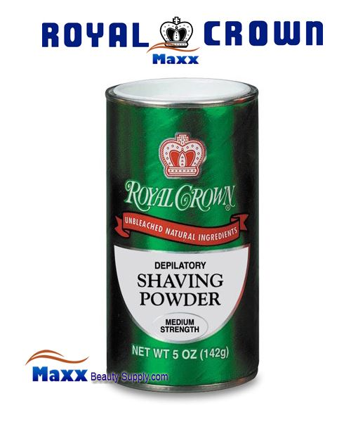 Royal Crown Shaving Powder Medium Strength 5oz - Green