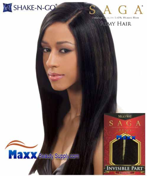 Human Hair Weave Model Model Dreamweaver Invisible Part Closure 34
