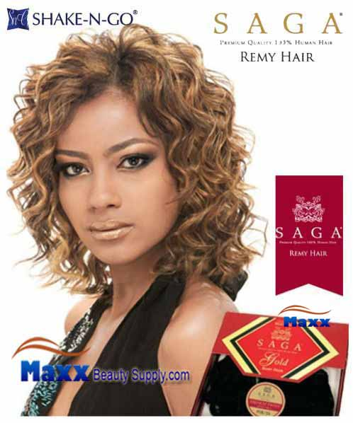 MilkyWay Saga Gold Remy 100% Human Hair Weave - French Twist Remy 3pcs