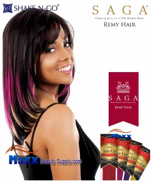 MilkyWay Saga Remy Human Hair Piece - Jazz Up Accent Colors 10""