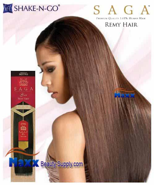 "MilkyWay Saga Gold Remy 100% Human Hair Weave - Remy Yaky 16"", 18"""