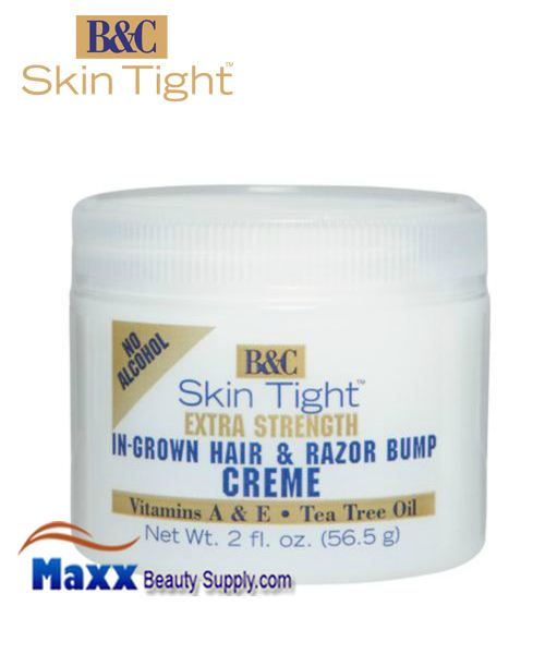 B&C Skin Tight In-Grown Extra Hair & Razor Bump Creme - 2oz