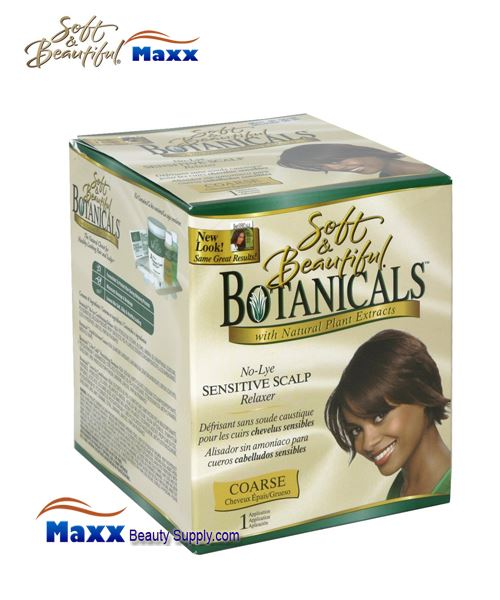 Soft & Beautiful Botanicals No-Lye Sensitive Scalp Relaxer Kit - Coarse