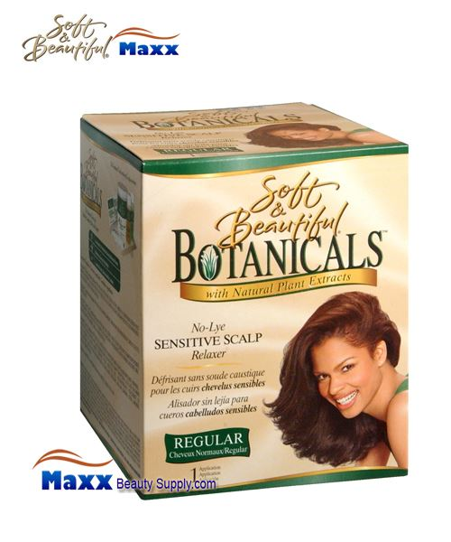 Soft & Beautiful Botanicals No-Lye Sensitive Scalp Relaxer Kit - Regular