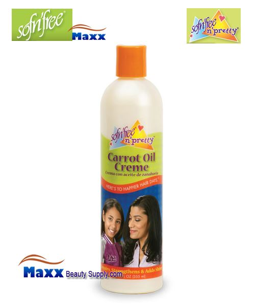 Sofn'Free Pretty Carrot Oil Créme 12oz - Bottle