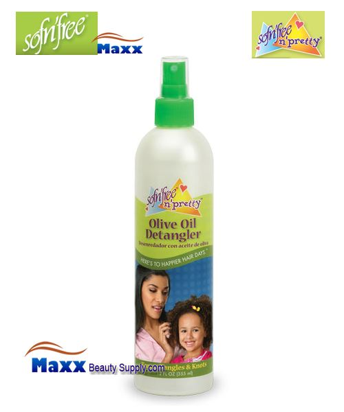 Sofn'Free Pretty Olive Oil Detangler 12oz - Bottle