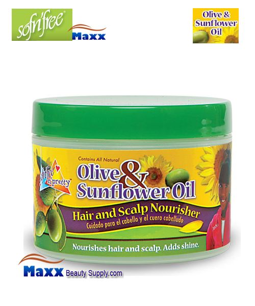 Sofn'Free Pretty Olive & Sunflower Oil Hair & Scalp Nourisher 4oz - Jar