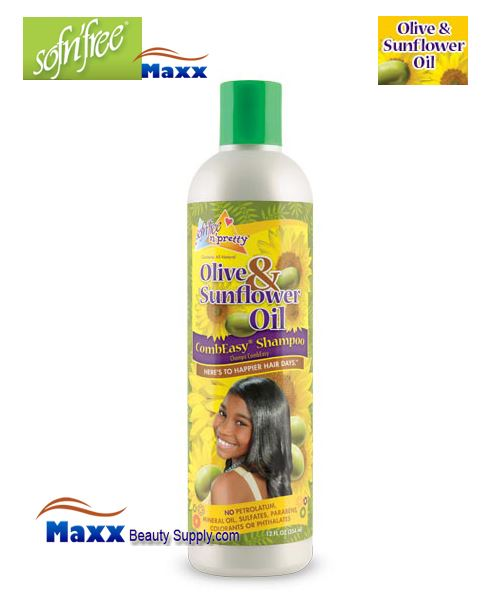 Sofn'Free Pretty Olive & Sunflower Oil Combeasy® Shampoo 12oz - Bottle