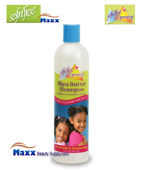Sofn'Free Pretty Shea Butter Shampoo 12oz - Bottle