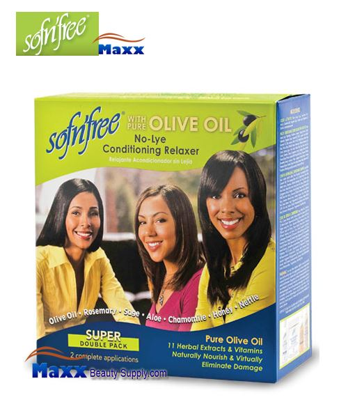 Sofn'free No-Lye Relaxer 2 Applicaion - Super Double Pack